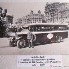 Postales: ANTIGUA POSTAL DE AUTOBÚS LAFFLY DE 1929. Lote 40184536