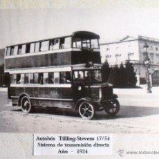 Postales: ANTIGUA POSTAL DE AUTOBÚS TILLING STEVENS 17/54 AÑO 1924. Lote 40184710