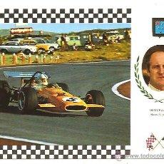 Postales: POSTAL SERIE GRAN PRIX F-1 Nº 21 – MAC LAREN FORD – DENIS HULME (NUEVA ZELANDA). Lote 40239100