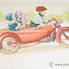 Postales: ANTIGUA POSTAL DE MOTO CON SIDECAR - ESCRITA - AÑOS 20 - 30 - AMAG. Lote 38244543