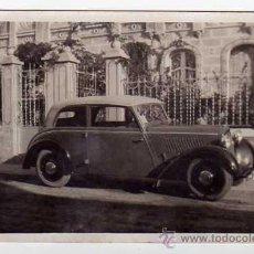 Postales: POSTAL FOTOGRÁFICA AÑOS 1930S. AUTOMÓVIL ADLER. SIN CIRCULAR. Lote 40373089