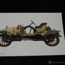 Postales: POSTAL COCHE AUTOMOVIL - HUMBER 8 H P - 1909. Lote 41598101