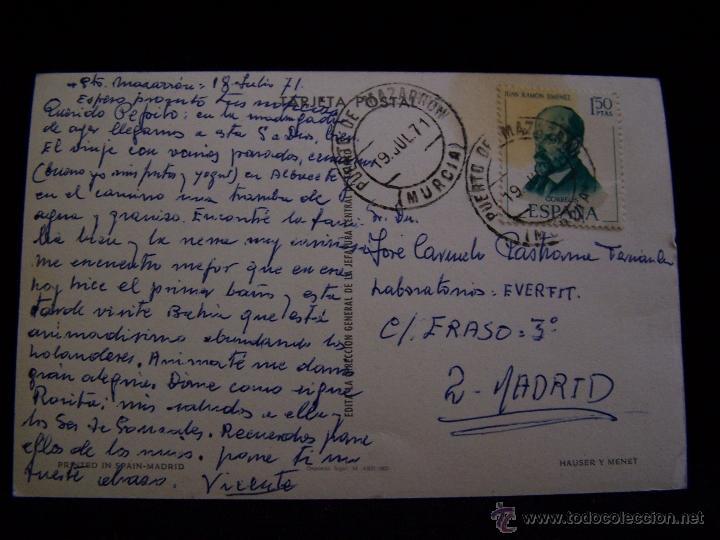 Postales: Postal circulada 1971 Ed Dirección General de Tráfico Hauser y Menet Las señales no están de adorno - Foto 2 - 41654102