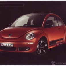 Postales: VOLKSWAGEN NEW BEETLE BLACK ORANGE SPECIAL EDITION (POSTAL DE AUSTRALIA). Lote 41756044