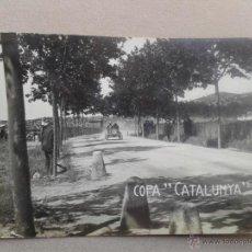 Postales: LOTE 4 POSTALES FOTOGRÁFICAS ANTIGUAS DE CARRERAS DE COCHES Y MOTOS DE BARCELONA CATALUÑA. . Lote 41946342