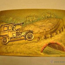 Postales: POSTAL ANTIGUA TROQUELADA Y DORADA . Lote 42096633
