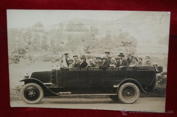 FOTO POSTAL DE PRINCIPIOS DE SIGLO XX. AUTO-CARS FRANCO-BELGES. SIN CIRCULAR (Postales - Postales Temáticas - Coches y Automóviles)