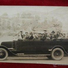 Postales: FOTO POSTAL DE PRINCIPIOS DE SIGLO XX. AUTO-CARS FRANCO-BELGES. SIN CIRCULAR. Lote 42706057