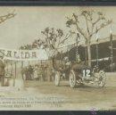 Postales: CARRERA INTERNACIONAL DE VOITURETTES - VINYET SITGES -BARCELONA MAYO 1908-FOTOGRAFICA J. VILA-(3286). Lote 43139156