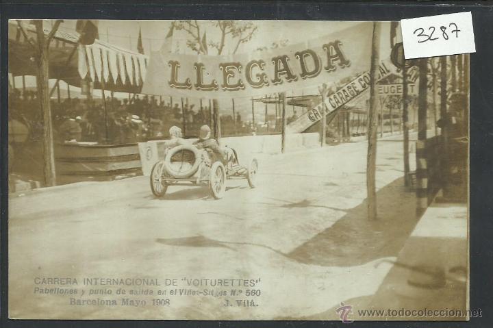 CARRERA INTERNACIONAL DE VOITURETTES - VINYET SITGES -BARCELONA MAYO 1908-FOTOGRAFICA J. VILA-(3287) (Postales - Postales Temáticas - Coches y Automóviles)