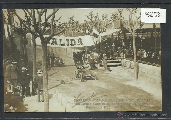 CARRERA INTERNACIONAL DE VOITURETTES - VINYET SITGES -BARCELONA MAYO 1908-FOTOGRAFICA J. VILA-(3288) (Postales - Postales Temáticas - Coches y Automóviles)