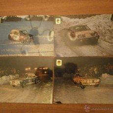 Postales: COLECCION 12 POSTALES. SERIE AUTOMOVILES RALLYE DEL Nº 1 AL 12 SIN CIRCULAR. Lote 43455681