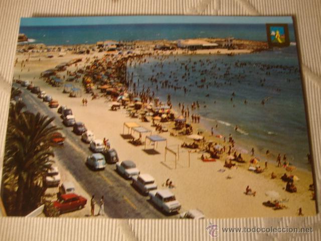 Postales: POSTAL TORREVIEJA ALICANTE COCHE COCHES VARIOS, PLAYA LOS LOCOS - Foto 2 - 43628611