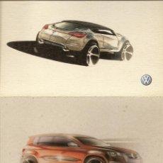 Postales: 5 POSTALES AUTOS, PUBLICIDAD DE VW TIGUAN, . Lote 43769340