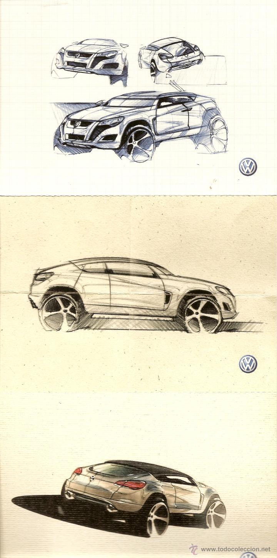 Postales: 5 POSTALES AUTOS, PUBLICIDAD DE VW TIGUAN, - Foto 2 - 43769340