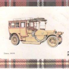 Postales: POSTAL COCHE ITALA 1906. Lote 45298755