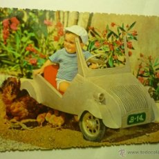 Postales: POSTAL NIÑO MONTADO EN BISCUTER-ESCRITA. Lote 45733231