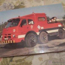 Postales: CAMION PEGASO. REMOLQUE AUTOBUS DE BARCELONA.. Lote 46578566