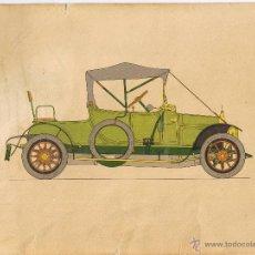 Postales: DIBUJO G A OLIVER - HISTORIA AUTOMOVIL - LABORATORIOS AMOR GIL - 24 X 18 - CALCIGENOL - 1966 - FOTO. Lote 46879120