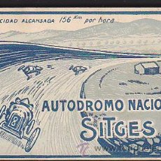 Postales: BLOCK DE 18 POSTALES AUTODROMO NACIONAL SITGES . Lote 46917338