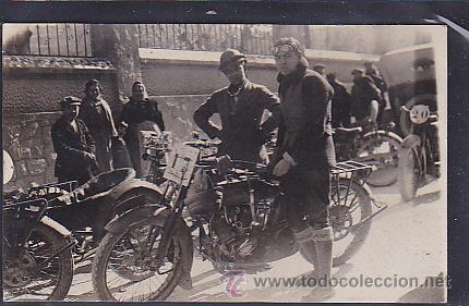 POSTAL FOTOGRAFICA SUBIDA EN CUESTA MONTSERRAT 1924 (Postales - Postales Temáticas - Coches y Automóviles)