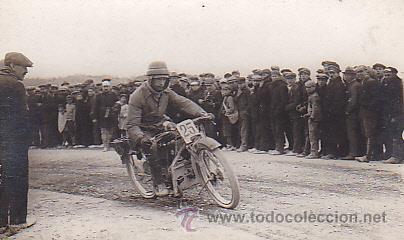 POSTAL FOTOGRAFICA CARRERA BRUCHS 1922 (Postales - Postales Temáticas - Coches y Automóviles)
