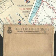 Postales: REAL AUTOMOVIL CLUB DE CATALUÑA - COL· 20 TARJETAS - ITINERARIOS - VER REVERSOS - CON SOBRE -(29304). Lote 47661756