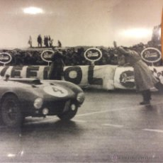 Postales: FERRARI JOSE FROILAN GONZALES LE MANS 1954 FOTO ORIGINAL PRENSA. Lote 47985165