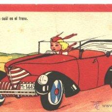 Postales: AUTOMOVIL CON CHICA (HUMORÍSTICO). Lote 48724104