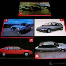 Postales: GRUPO POSTAL 4 POSTALES, PROMOCIONAL CITROËN CX GTI TURBO; BX; VISA; ECO. ORIGINAL 1985.. Lote 48943217