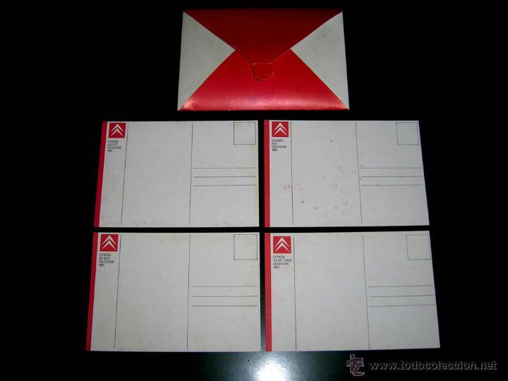 Postales: Grupo postal 4 postales, promocional Citroën CX GTI turbo; BX; Visa; Eco. Original 1985. - Foto 2 - 48943217