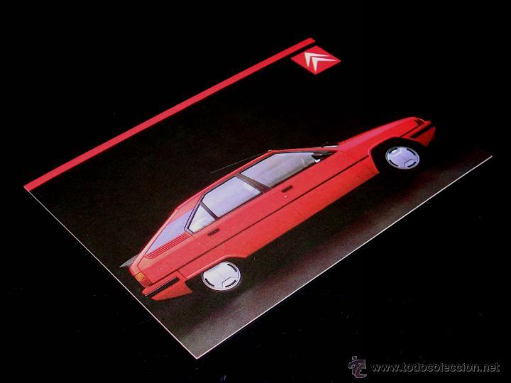 Postales: Grupo postal 4 postales, promocional Citroën CX GTI turbo; BX; Visa; Eco. Original 1985. - Foto 4 - 48943217
