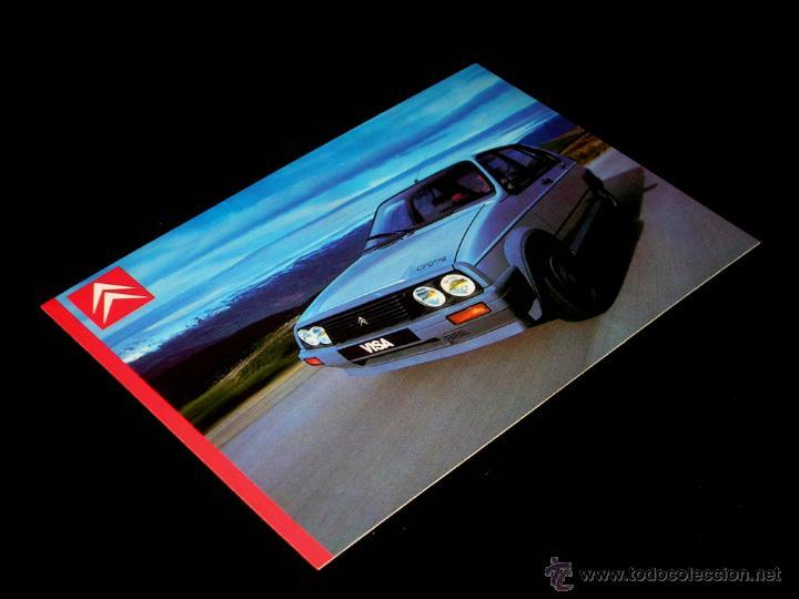 Postales: Grupo postal 4 postales, promocional Citroën CX GTI turbo; BX; Visa; Eco. Original 1985. - Foto 5 - 48943217