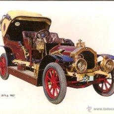 Postales: POSTAL COCHE DE EPOCA, DE DION 30 H.P. 1907 - EDITA CPVA 6 - SIN CIRCULAR. Lote 48962147