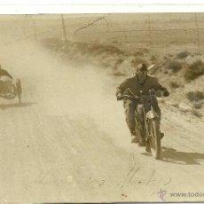 Postales: (PS-45307)POSTAL FOTOGRAFICA DE RIGANTI. PILOTO ARGENTINO SOBRE HARLEY DAVIDSON.ESCORIAL. Lote 49246081