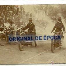 Postales: (PS-45306)POSTAL FOTOGRAFICA DE MADRID-SALIDA PRUEBA MOTOCICLISTA A BENEFICIO UNIÓN DE PERIODISTAS . Lote 49246122