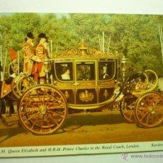 Postales: POSTAL LONDRES .-QUEEN ELIZABETH Y PRINCE CHARLES.-CIRCULADA CM. Lote 49268942