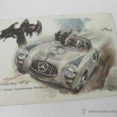 Postales: POSTAL DEL MERCEDES BENZ 300 SL EN LA III CARRERA PANAMERICANA DE MEXICO DE 1952. Lote 49936398