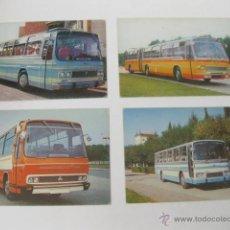 Postales: LOTE DE 4 POSTALES DEL AUTOCARES PEGASO - POSTAL AUTOCAR 6031-A 6031-N 6031-L/4 Y 5031-L/4. Lote 49937285