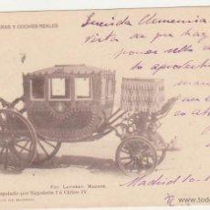 Postales: COCHE REGALADO POR NAPOLEÓN I A CARLOS IV. FRANQUEADO Y FECHADO EN 1901.. Lote 50986092