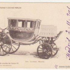Postales: COCHE DE CONCHA DE CARLOS IV. FRANQUEADO Y FECHADO EN 1901.. Lote 50986140