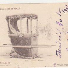 Postales: LITERA DE CARLOS III. FRANQUEADO Y FECHADO EN 1901.. Lote 50986197