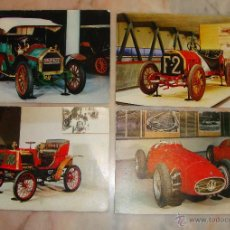 Postales: LOTE DE 4 POSTALES COCHES . Lote 52894891