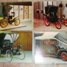 Postales: LOTE DE 4 POSTALES COCHES . Lote 52894899
