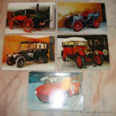Postales: LOTE DE 5 POSTALES COCHES . Lote 52894904