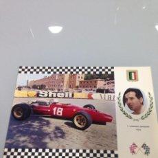 Postales: POSTAL, F1, LORENZO BANDINI, FERRARI 312, GP MONACO 1967, Nº9 SERIE GRAN PRIX. Lote 53247968