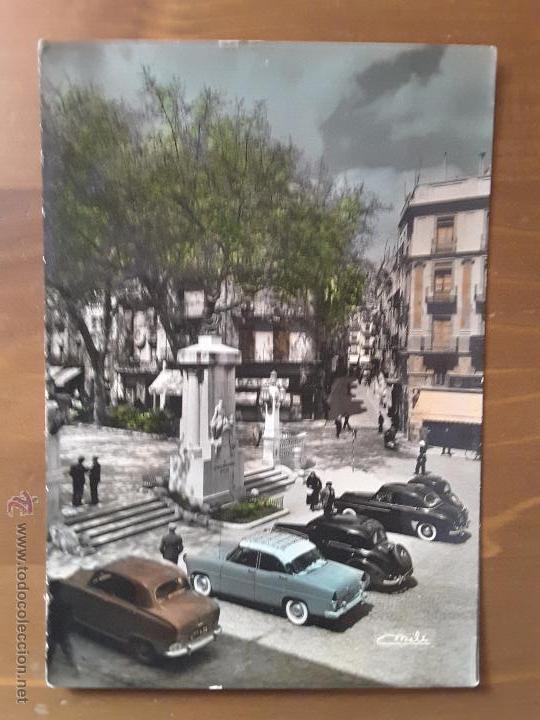 ANTIGUOS COCHES EN CALLE GERONA DE FIGUERAS (Postales - Postales Temáticas - Coches y Automóviles)