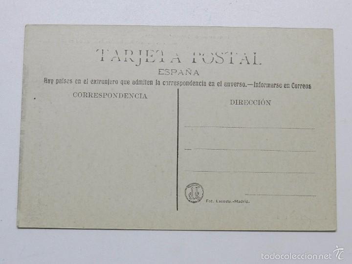 Postales: ANTIGUA POSTAL DE BODAS REALES N.6 - FIESTA AUTOMOVILISTA EN EL PARDO - S.M. DON ALFONSO XIII BEBIEN - Foto 2 - 55654960