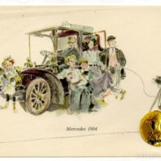 Postales: POSTAL MERCEDES 1904 MUSEO MERCEDES BENZ STUTTGART ALEMANIA AÑOS 50. Lote 56200345