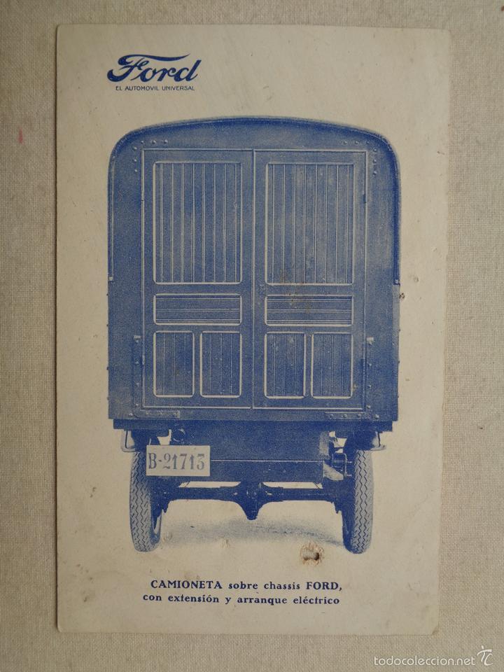 CAMIONETA SOBRE CHASIS FORD.23015 (Postales - Postales Temáticas - Coches y Automóviles)